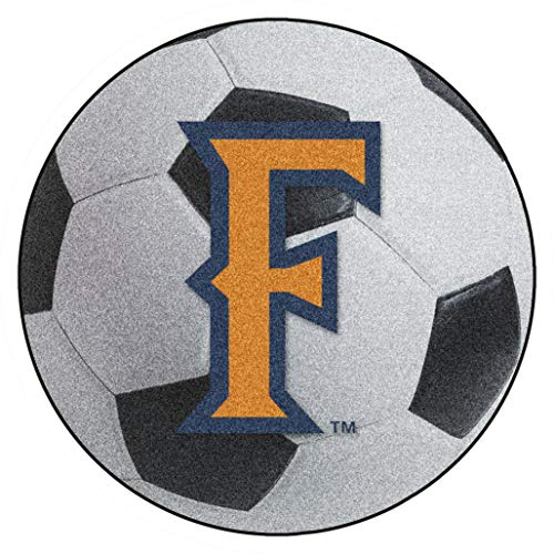FANMATS NCAA Cal State - Fullerton Titans Nylon Face Soccer Ball Rug