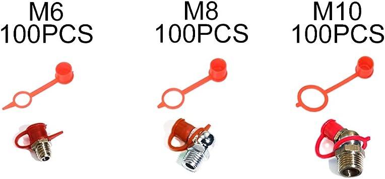 KOOTANS 80PCS//Set M6 M8 M10 Mixed Grease Fitting Caps Polyethylene Dust Caps for Metric Thread Grease Zerk Nipple Fitting