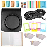 Neewer 25-in-1 Accessory Kit for Fujifilm Instax Mini 70: 1 Black Camera Case/1 Blue Album/4 Colored Filter/5 Film Table Frame/10 Wall Hanging Frame/3 Pack(30 Pieces) Border Sticker/1 Shoulder Strap