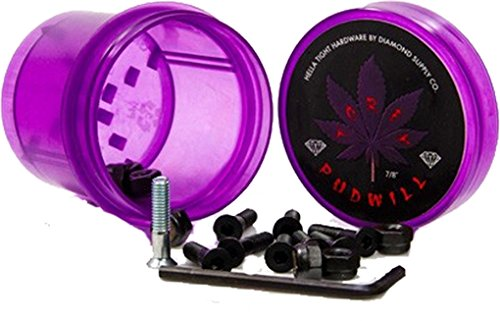 Diamond Torey Pudwill Allen Pudwill Allen with Purple Grinder Skateboard Hardware Set - 7/8