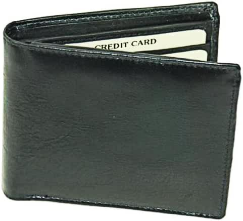 Premium Leather Mens Wallet Bi-fold with Genuine Cowhide Leather
