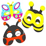 Soft Foam Insect Masks, 6 supplied of 3 designs