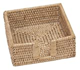 Best Home-n-Gifts Napkin Holders - Entertaining with Caspari Rattan Cocktail Napkin Holder, White Review