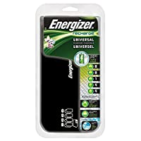 Energizer Recharge Universal Charger charges 8 AA/AAA, 4 C/D or 1 9V NiMH Batteries
