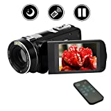 Camcorder Digital Camera Full HD Video Camera 1080p 24.0MP Night Vision Vlogging Camera 18X Digital Zoom with Remote Control