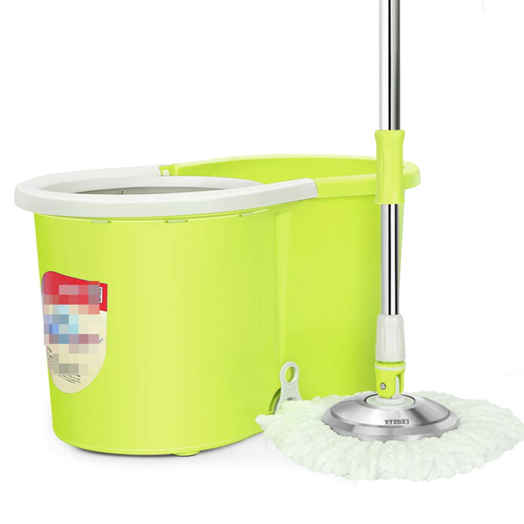 Rotary MOP Dual Drive Free Hand wash Home Automatically Drag Head to Drag mop mop Bucket Suitable for Cleaning Home Office Classroom and so on,Yellow