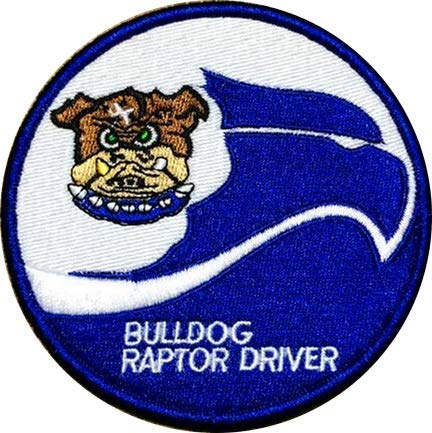 - US 525th Fighter Squadron Raptor Driver Military Hook Loop Tactics Morale Embroidered Patch