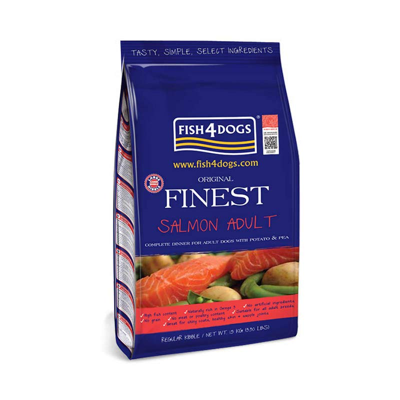 Fish4Dogs Finest Salmon Complete Small-Bite Dry Mix 1.5 kg