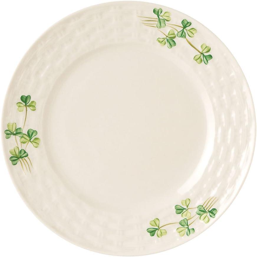 Belleek Group 0005 Shamrock Side Plate, 7.5-Inch, White