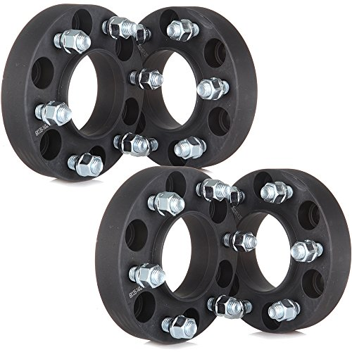 Wheel Spacers,ECCPP Wheel Spacer Adapters 4X 1.25'' 6X135mm 87mm Black Full Hub Centric for Ford F-150 Raptor Expedition by ECCPP (Image #5)
