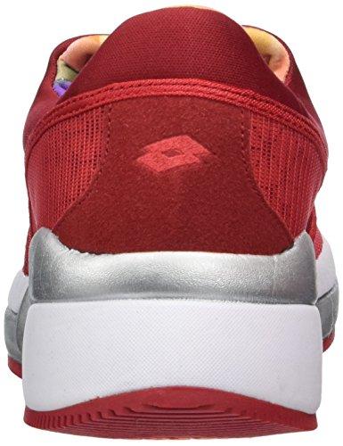 Lotto Iris Lf Amf W, Zapatillas de Running para Mujer Rojo (Red FL/Red Rsp)