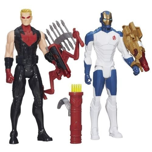 [Avengers Titan Heroes Iron Man and Hawkeye Deluxe Electronic Action Figure Case - Entertainment Earth] (Hawk Guy Avengers Costume)