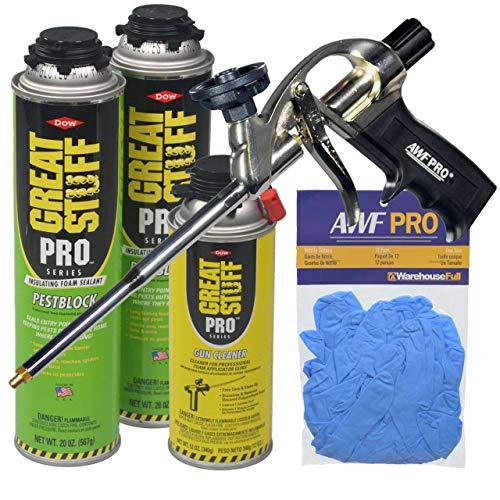 - Dow Great Stuff Pro Pestblock Foam Sealant Kit with Foam Gun and Gloves
