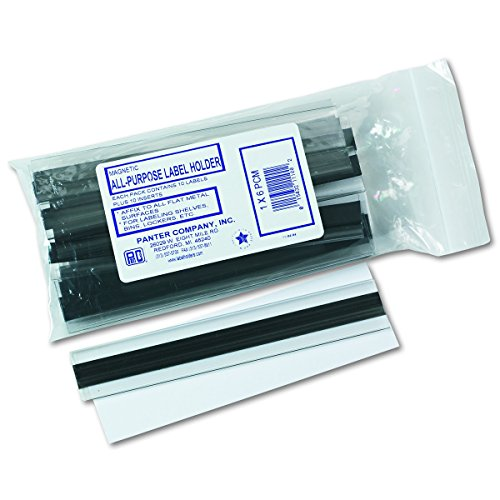 Panter Company PCM1 Clear Magnetic Label Holders, Side Load, 6 x 1, Clear (Pack of - Panter.com