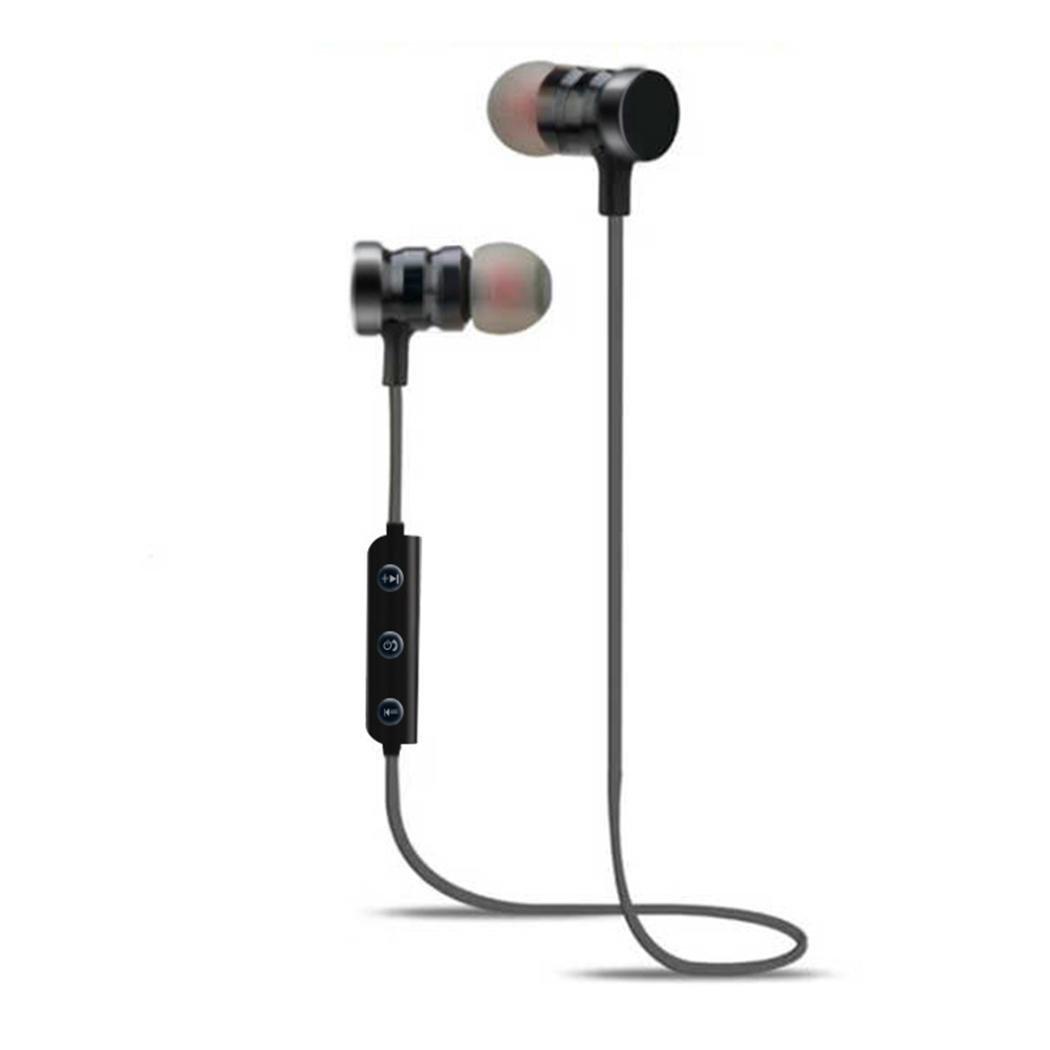 Chigant Auriculares Bluetooth, Auriculares Estéreo Inalámbricos para iOS y Android, Negro: Amazon.es: Electrónica