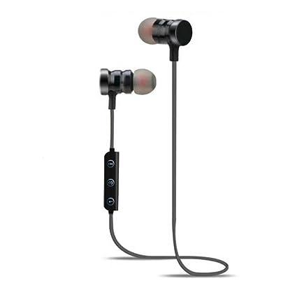 Chigant Auriculares Bluetooth, Auriculares Estéreo Inalámbricos para iOS y Android, Negro