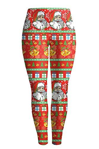 ALBIZIA Women's Satan Cluas Printed Ugly Christmas Leggings