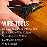 LEATHERMAN, Surge Heavy Duty Multitool with Premium Replaceable Wire Cutters and Spring-Action Scissors, Black with MOLLE Sheath