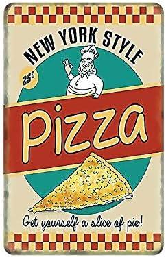 Pizza Metal Sign Italian Retro Vintage Plaque Tin Poster Decoration Home Food