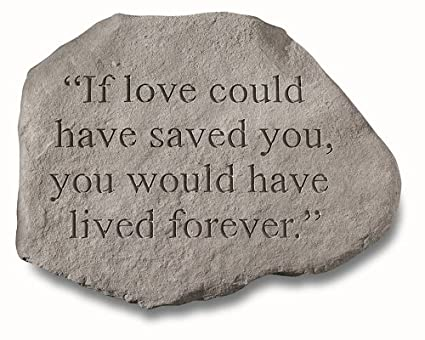 amazon com kayberry garden accent memorial stone if love could