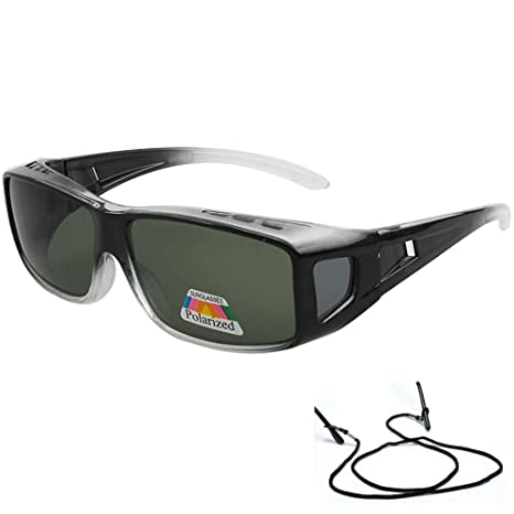 31d233984f Image Unavailable. Image not available for. Color  Polarized Rectangular Fit  Over Glasses ...