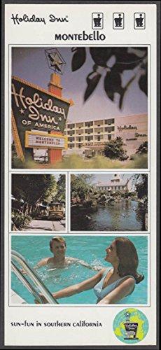 Holiday Inn Montebello CA long 4-view postcard ca - Montebello Ca