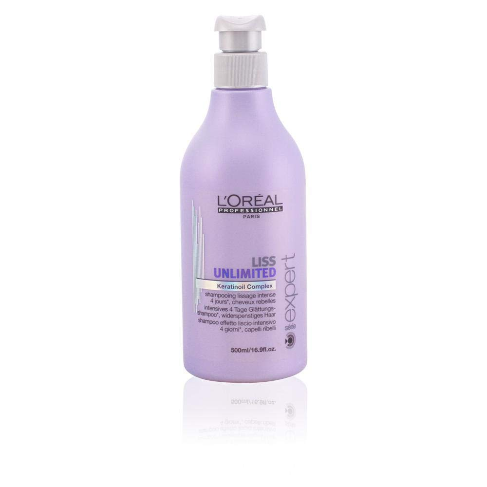 Loreal Liss Unlimited Keratinoil Complex Shampoo for Unisex, 16.9 Ounce
