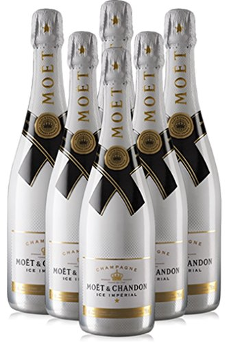 6x Moet & Chandon Ice Impérial Champagner 0,75l Liter Flasche