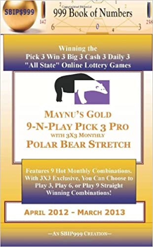 MAYNU'S GOLD 9-N-PLAY PICK 3 PRO WITH 3X3 MONTHLY POLAR BEAR