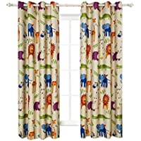 BGment Animal Zoo Kids Curtains Room...