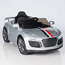 Audi R8 Style Kids 12V Battery Powered Wheels Ride On Car MP3 RC Remote Silver