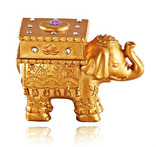 Kate Aspen Lucky Golden Elephant Trinket Box | Perfect Party Favor, Decoration or Guest Gift for Birthdays, Weddings, Bridal Showers or Baby Showers (Set of 2) ()
