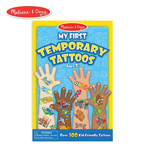 Melissa & Doug My First Temporary Tattoos: Adventure, Creatures, Sports, and More (100+ Kid-Friendly Tattoos) -