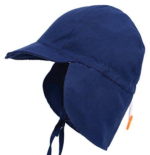 Miehana Kids Safari Hat UPF 50+ UV Flap Sun Protection Sun Hat w/Neck Flap,0-12 - Zero Uv