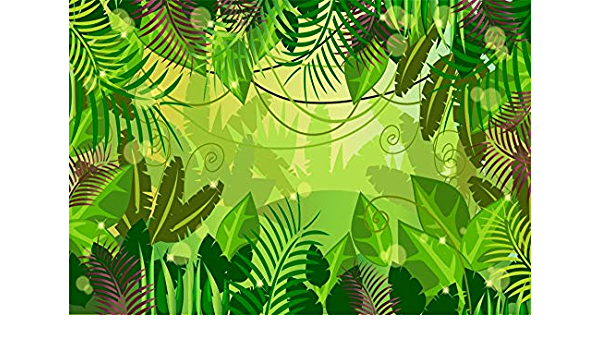 7x10 FT Nursery Vinyl Photography Backdrop,Two Monkeys Near The Banana Plant Tropical Nature Landscape Vine Funny Animals Apes Background for Baby Birthday Party Wedding Graduation Home Decoration
