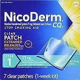NicoDerm CQ Clear Nicotine Patch 21 milligram (Step 1) Stop Smoking Aid 7 count
