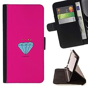 For Samsung Galaxy S6 Active G890A Case , Compromiso Historieta rosada- la tarjeta de Crédito Slots PU Funda de cuero Monedero caso cubierta de piel