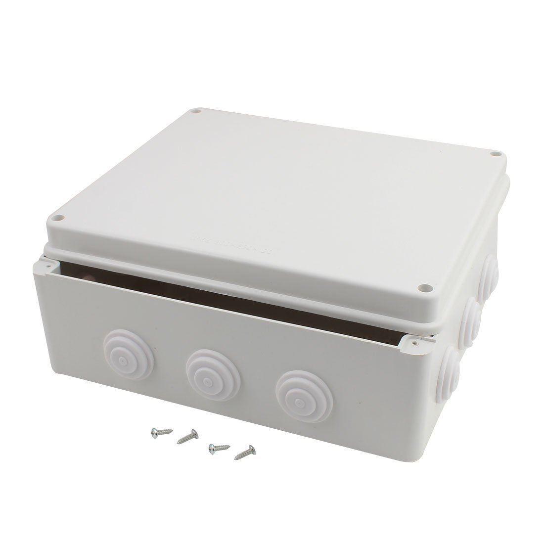 Purple-fox Junction Box L300mm x W250 x H120mm Dustproof IP65 Universal Electric Project DIY Case Enclosure for Joining Wires Inside (300 250 120)