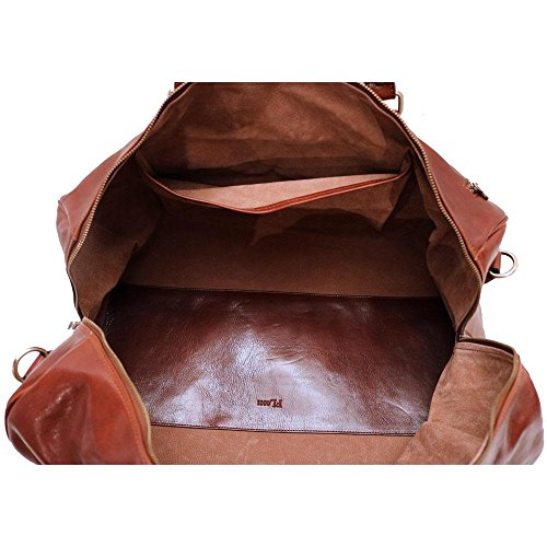 Super Tuscan Leather Duffle Travel Bag Model #1 by Floto (Image #6)