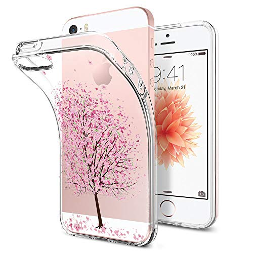 (iPhone 5/5s/SE Case Soft TPU Transparent Ultra Ultra Anti-Shock Protective Cover (6, iPhone 5/5s/SE))
