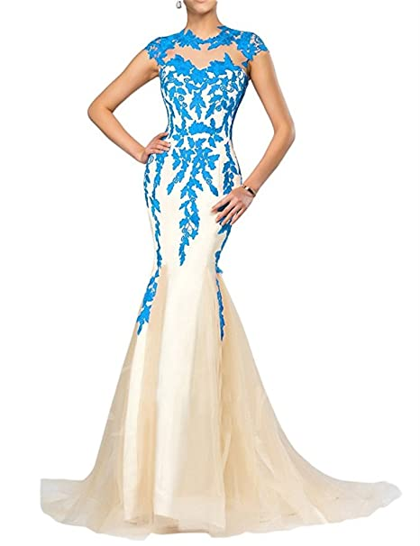 FOLOBE apliques de encaje vestido de la madre de la novia vestido de noche formal de