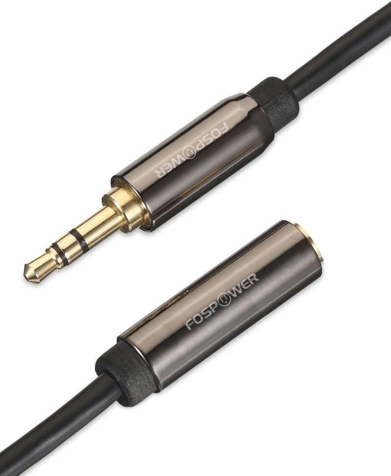 Noir FosPower Rallonge C/âble Audio Auxiliaire Jack 3.5mm M/âle vers Femelle de 4,5m Cable d/'Extension pour Audio St/ér/éo T/él/éphone Portable PC Haut-parleurs /Écouteurs Sansumg IPhone ou IPad