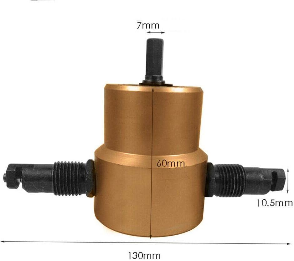 strumento di taglierina seghetto accessorio di perforazione. 1 x doppia testa in metallo smerigliatrice per trapano fissaggio definitivo multiuso