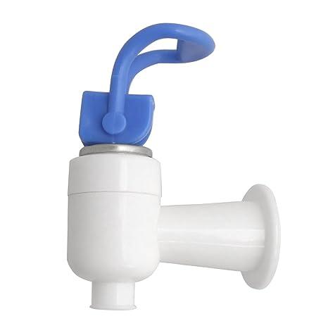 Tipo Push de repuesto azul y blanco plástico grifo para dispensador de agua