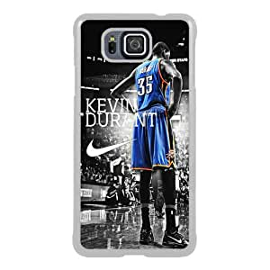 Oklahoma City Thunder Kevin Durant 3 White New Style Custom Samsung Galaxy Alpha Cover Case