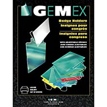 Gemex CO-300 Badge Holder, Clear