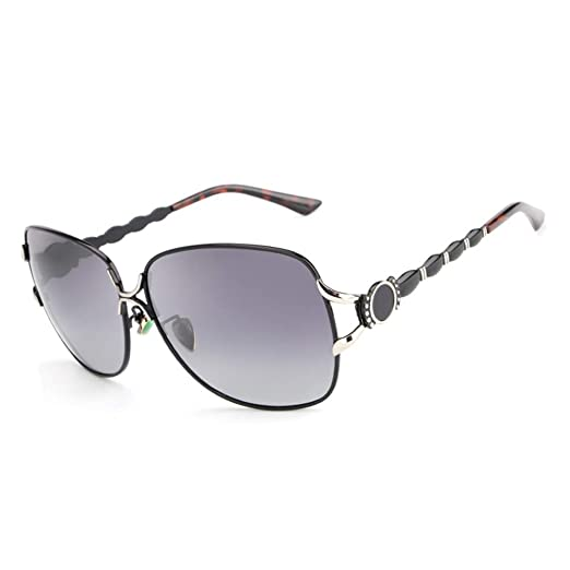 f0be0fdef36 Amazon.com  HDCRAFTER Womens Designer Oversized Metal Frame ...