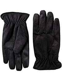 Men's Brushed Microfiber Gathered Wrist Gloves