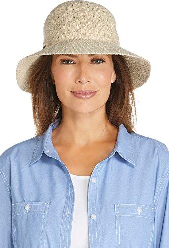 Coolibar UPF 50+ Women's Marina Sun Hat - Sun Protective (One Size- Natural) (Marines Women)