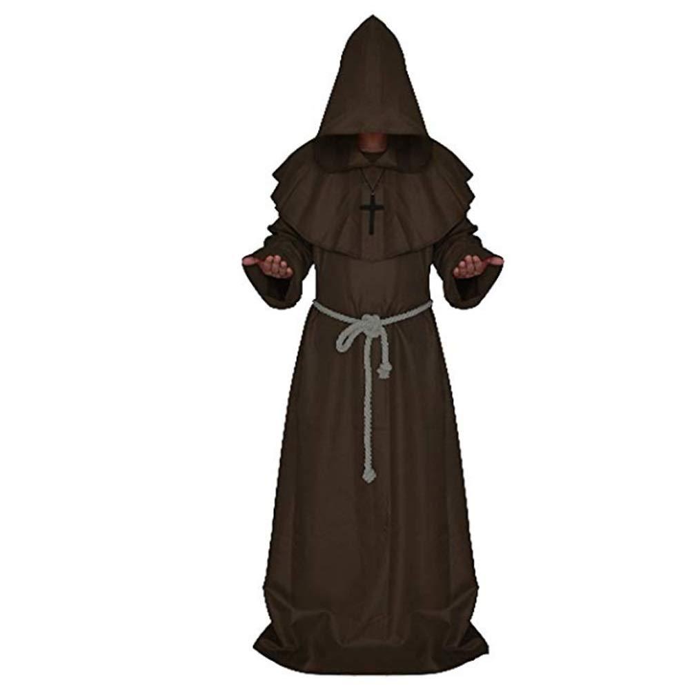 Amazon.com: Disfraz de Halloween Monk, Priest Robe Halloween ...
